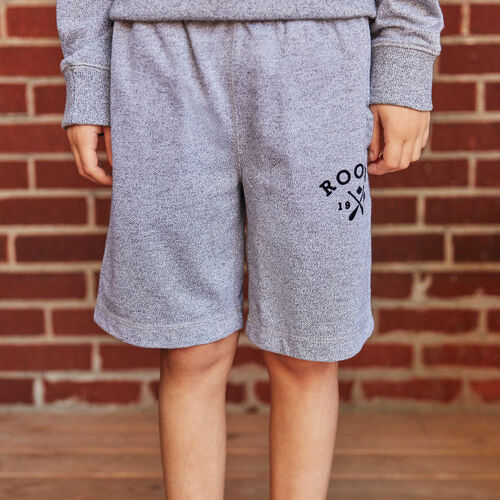 Roots-Kids New Arrivals-Boys Cabin Sweatshort-Light Salt & Pepper-A
