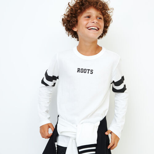 Roots-Kids Our Favourite New Arrivals-Boys 2.0 T-shirt-Ivory-A