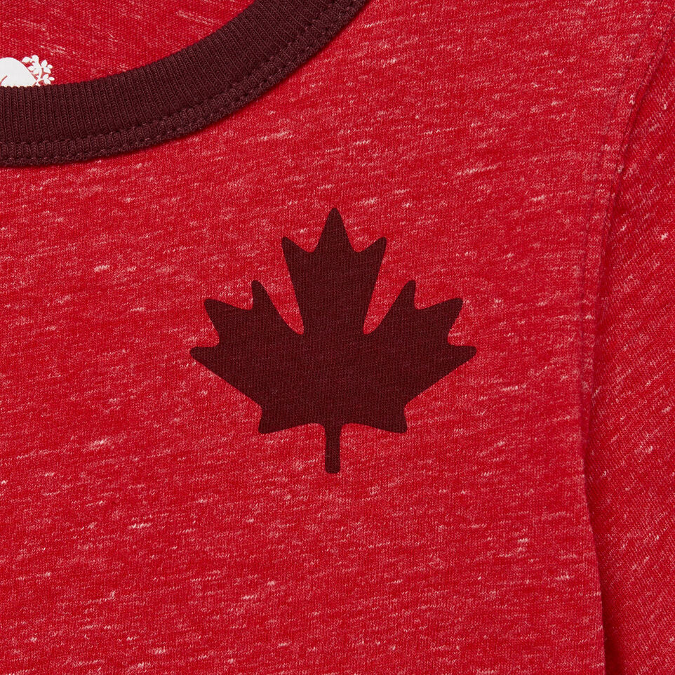 Roots-Kids Our Favourite New Arrivals-Toddler Canada Cabin Ringer T-shirt-Sage Red Mix-D