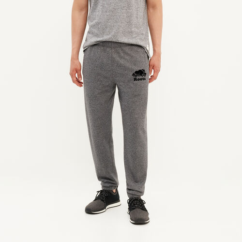 Roots-Men Sweats-Slim Elastic Sweatpant-Charcoal Pepper-A