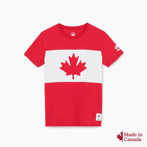 Roots-New For August Canada Collection By Roots™-Womens Blazon T-shirt-Sage Red-A