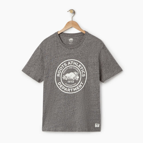 Roots-Men Our Favourite New Arrivals-Mens Athl. Dept. T-shirt-Med Grey Mix Pepper-A