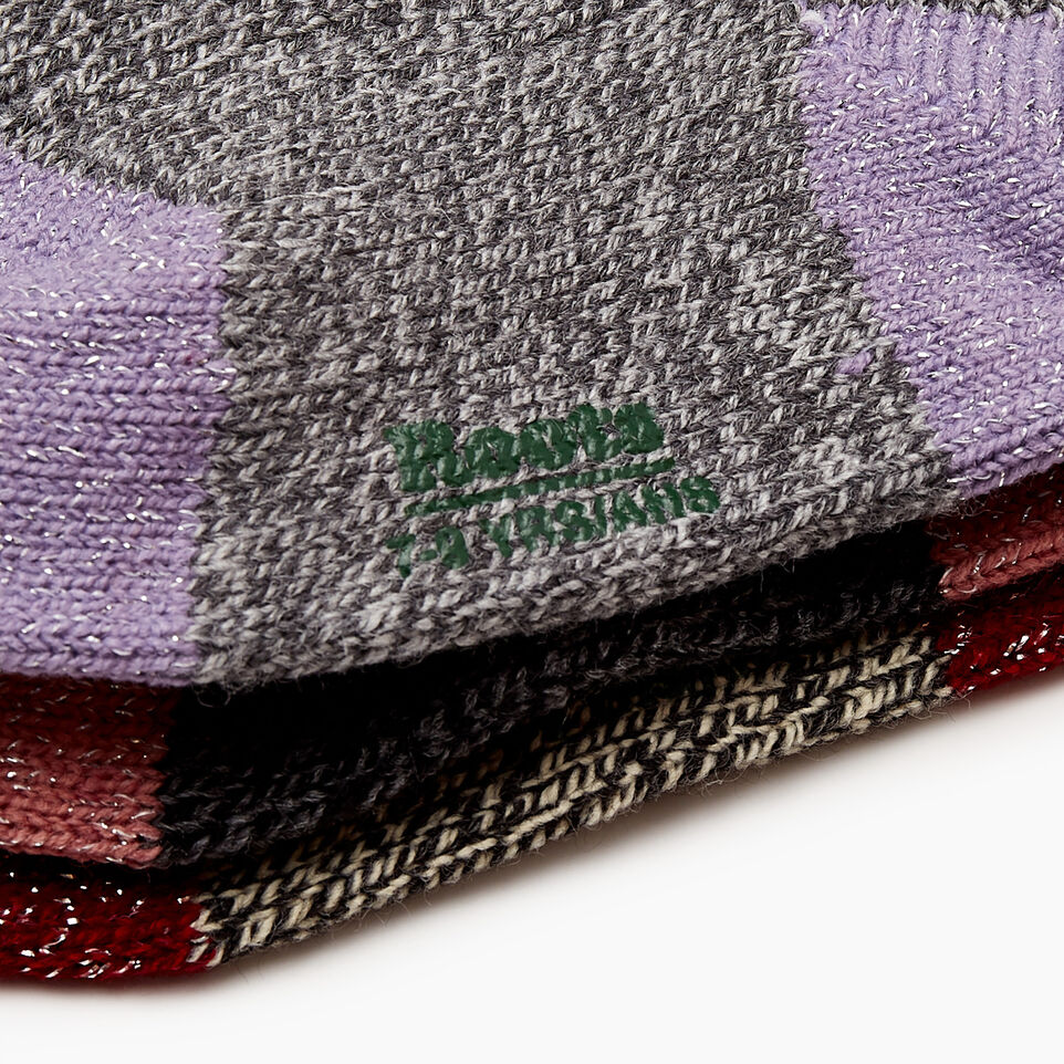 Roots-undefined-Kid Girl Sparkle Cabin Sock 3 Pack-undefined-D