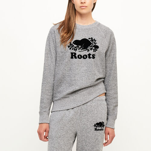 Roots-Women Categories-Original Crewneck Sweatshirt-Salt & Pepper-A