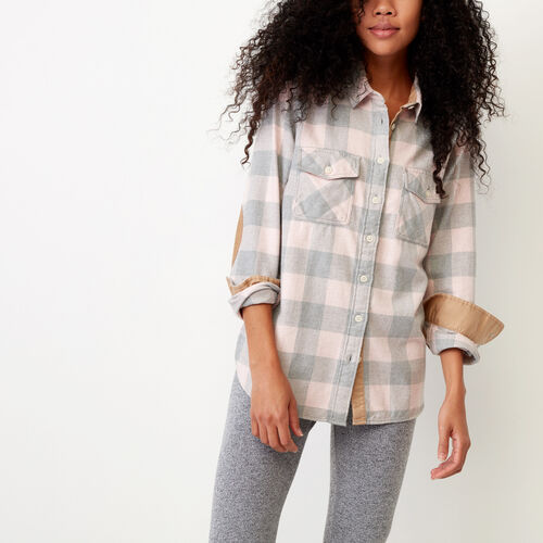 Roots-Winter Sale Women-Park Plaid Shirt-Pink Mix-A