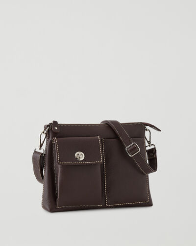 Roots-Women Leather-The Villager Cervino-Chocolate-A
