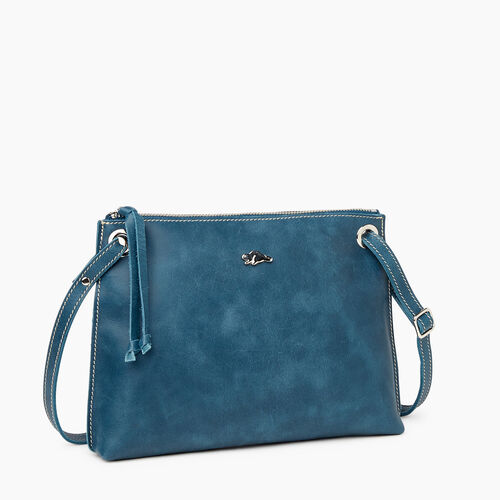 Roots-Leather Crossbody-Edie Bag-Teal Green-A