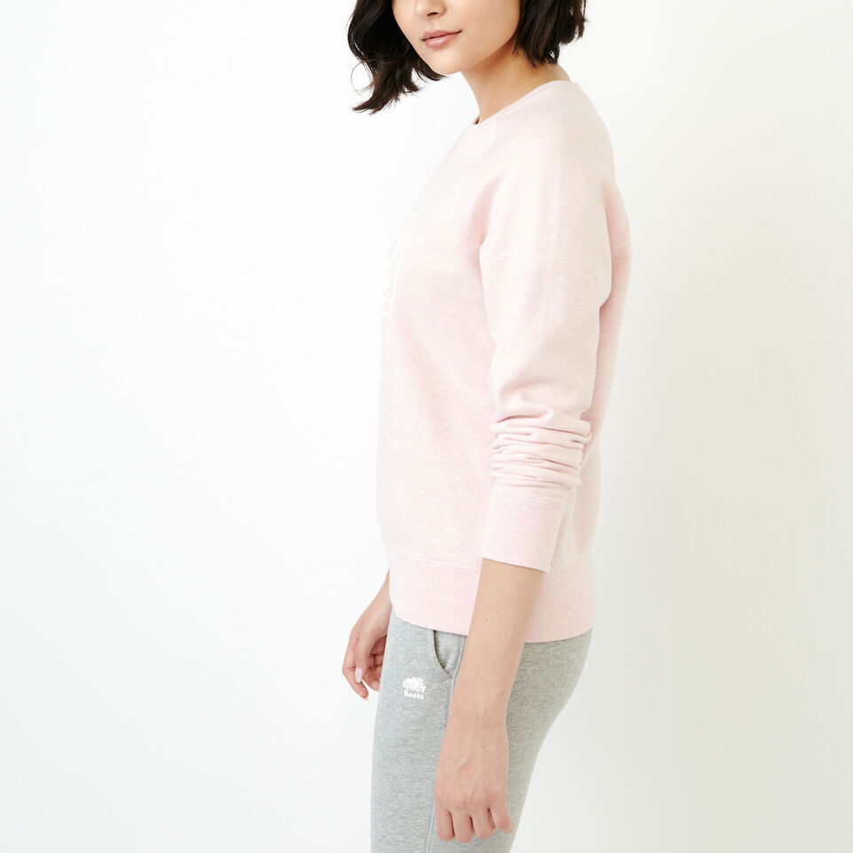 Roots-Women New Arrivals-Vault Relaxed Crew Sweatshirt-English Rose Mix-C