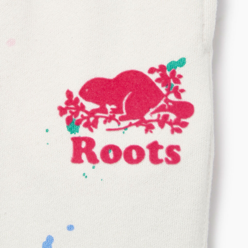 Roots-Kids Our Favourite New Arrivals-Baby Splatter Sweatpant-Cannoli Cream-E