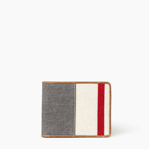 Roots-Sale Leather-Mens Cabin Wallet-Grey Oat Mix-A