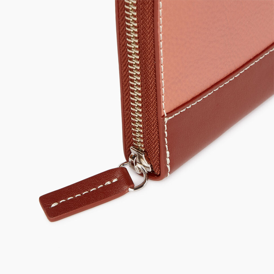 Roots-Leather Categories-Zip Around Wallet-Canyon Rose/oak-D
