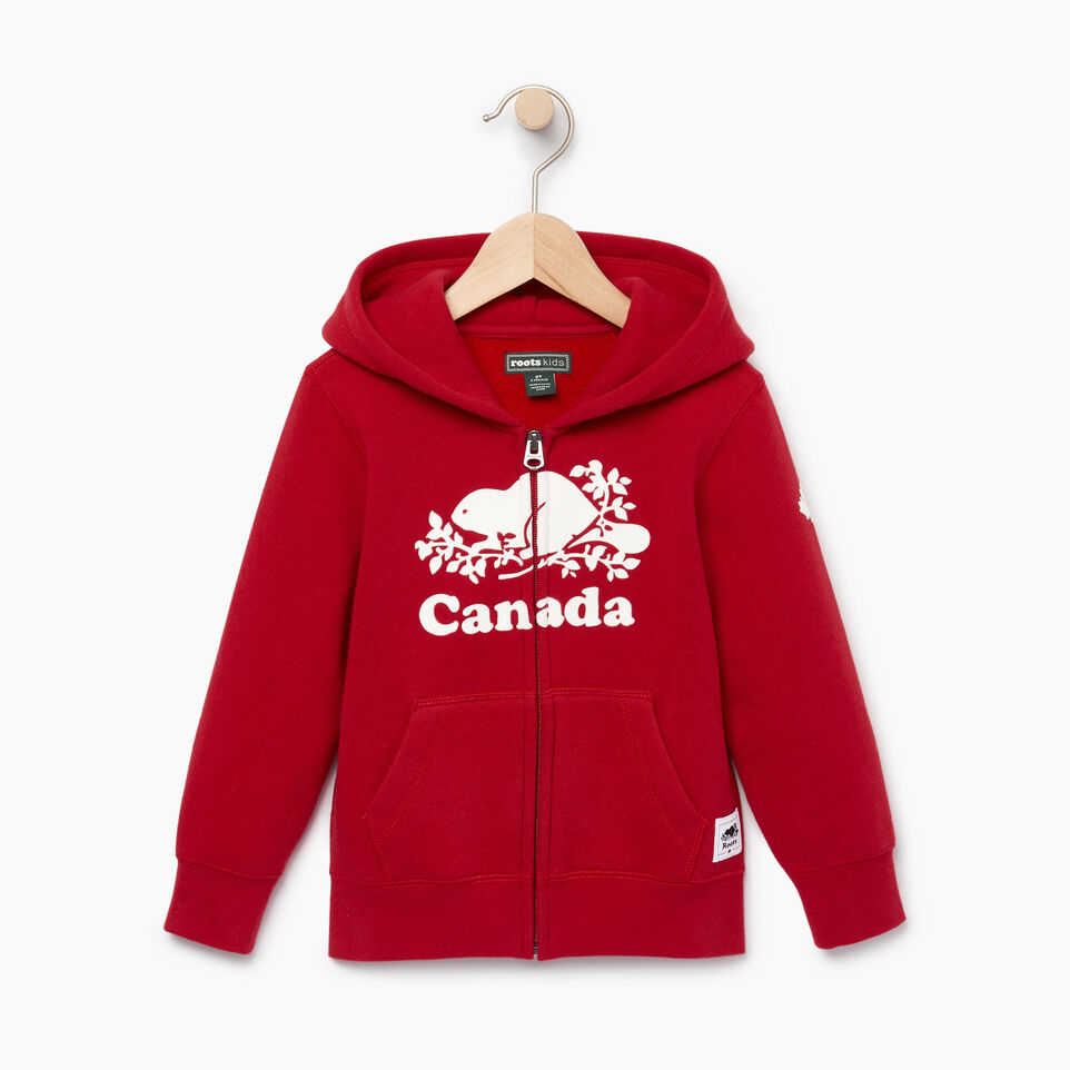Roots-Kids Our Favourite New Arrivals-Toddler Canada Full Zip Hoody-Sage Red-A
