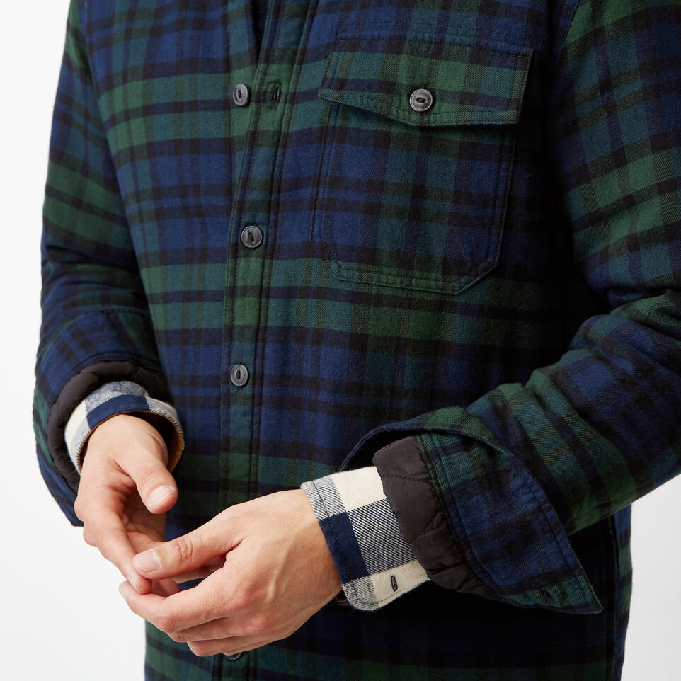Roots-Winter Sale Men-Ossington Quilted Flannel Shirt-Green Gables-E