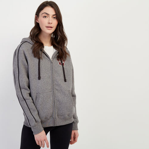 Roots-New For January Canada Collection By Roots™-Canada Full Zip-Salt & Pepper-A