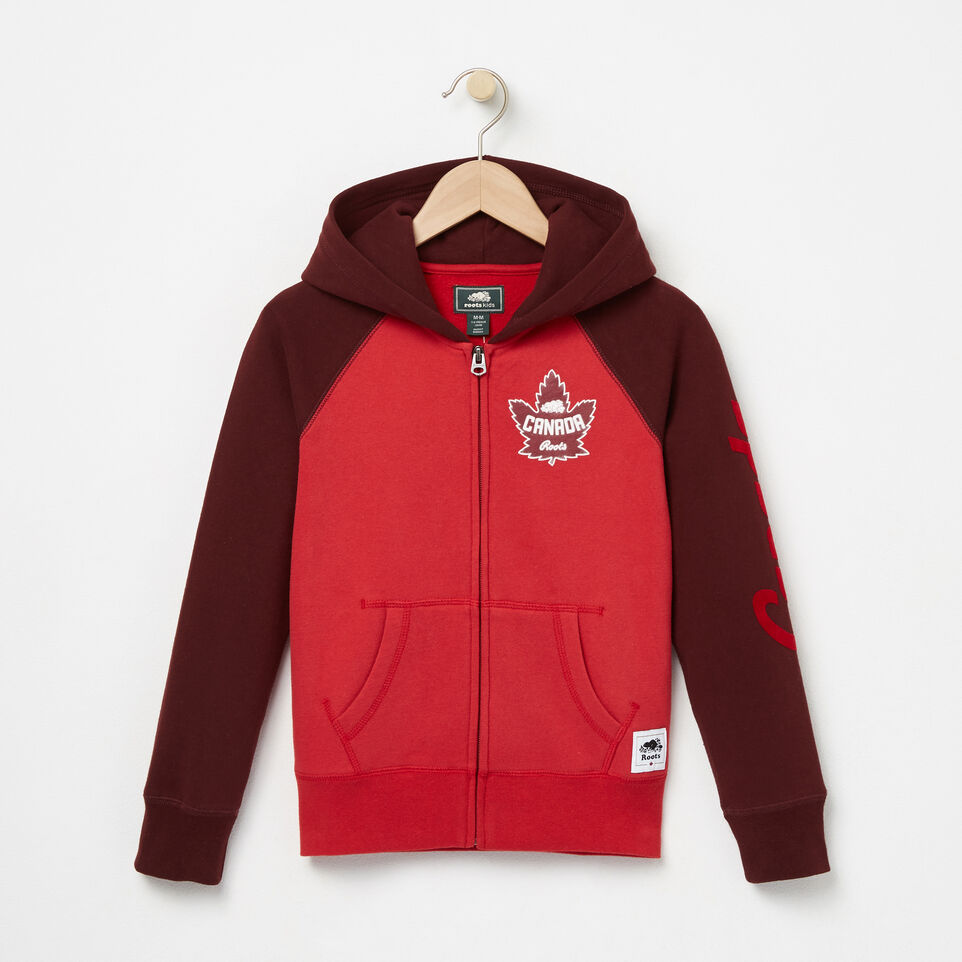 Roots-undefined-Girls Heritage Canada Full Zip Hoody-undefined-A