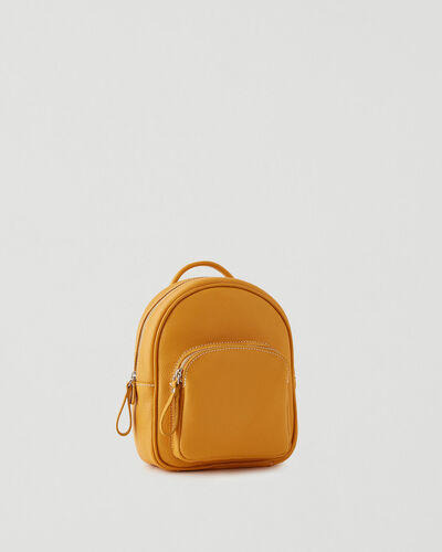 Roots-Leather Backpacks-Mini Chelsea Pack Cervino-Sunflower-A