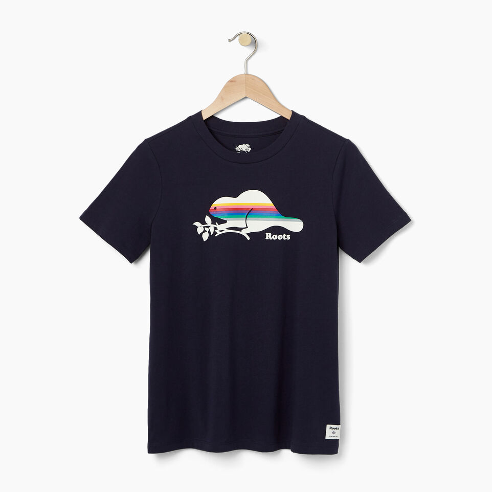 Roots-undefined-Womens Striped Beaver T-shirt-undefined-A