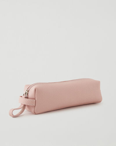 Roots-Leather Tech & Travel-Small Utility Pouch Cervino-Pink Pearl-A