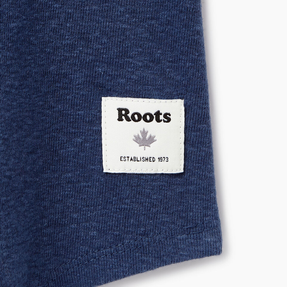 Roots-New For July Daily Offer-Womens Colour Blocked Baseball T-shirt-Sargasso Sea-C