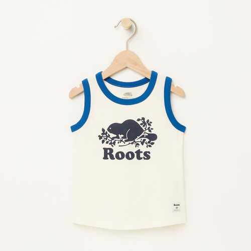 Roots-Kids Toddler Boys-Toddler Ringer Tank-Pristine White-A