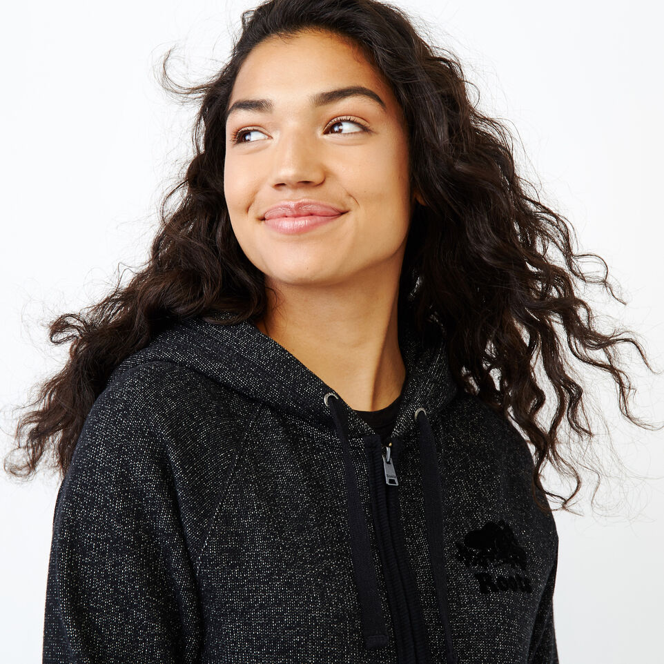 Roots-Women Our Favourite New Arrivals-Original Full Zip Hoody-Black Pepper-E