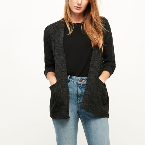 Roots-Black Friday Deals Tops-Julian Open Cardigan-Black Mix-A
