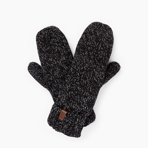 Roots-Clearance Women-Polar Fox Mitt-Black Mix-A