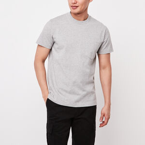 Roots-New For March Men-7 Oz Jersey Pocket T-shirt-Grey Mix-A