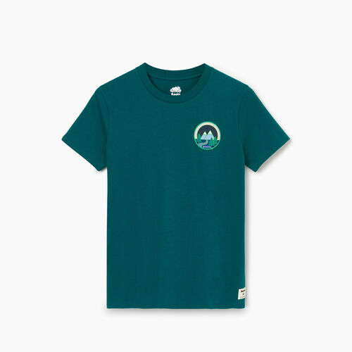 Roots-Clearance Tops-Womens Borden T-shirt-Teal Green-A