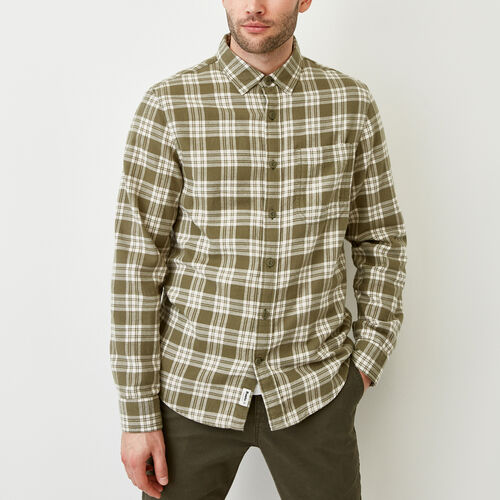 Roots-Clearance Tops-Harrison Flannel Shirt-Fatigue-A