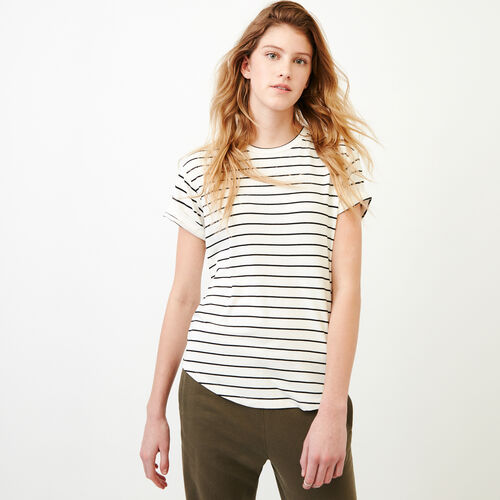 Roots-Women Categories-Aster Stripe Top-White-A