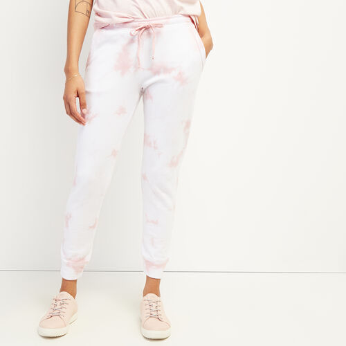 Roots-Women Bottoms-Eramosa Sweatpant-Peachskin Tie Dye-A