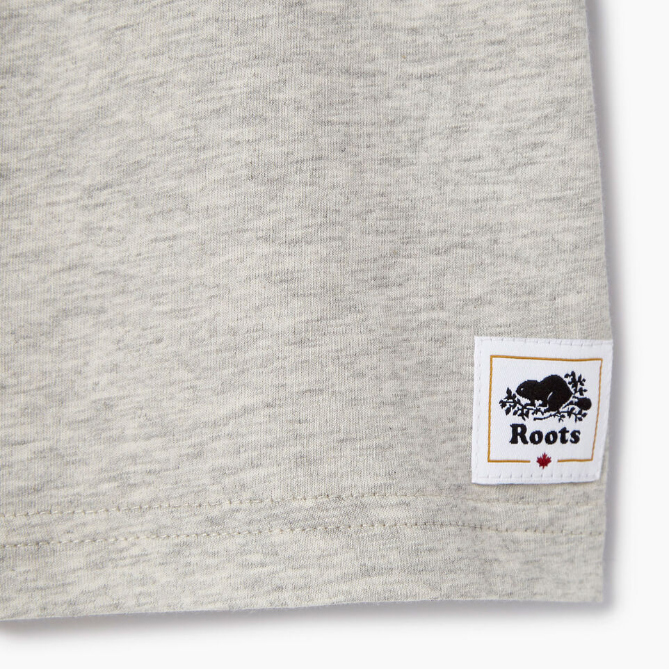 Roots-Kids Canada Collection-Toddler Canada T-shirt-Grey Mix Pepper-C