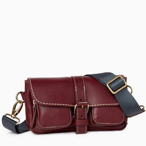 Roots-Leather Mini Leather Handbags-Convertible Small Emily Cervino-Bordeaux-A