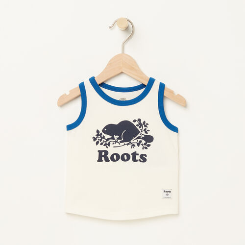 Roots-Kids Baby-Baby Ringer Tank-Pristine White-A