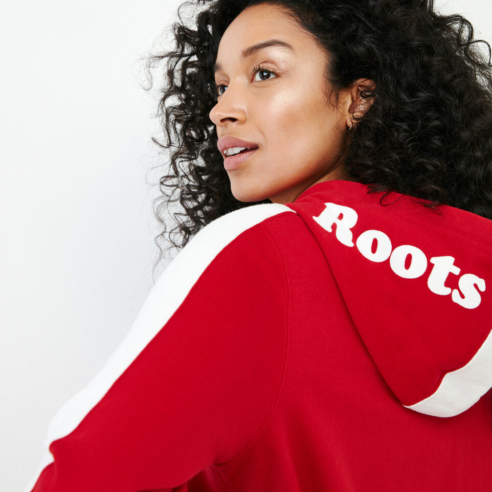 Roots-New For July Women-Canada Full Zip Hoody-Sage Red-E