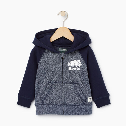 Roots-Kids Our Favourite New Arrivals-Baby Original Full Zip Hoody-Navy Blazer Pepper-A