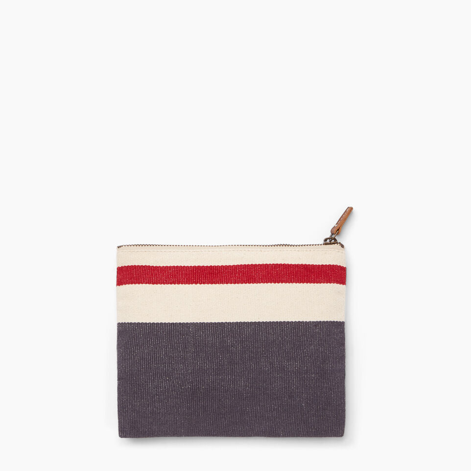 Roots-Women General Store-Roots Cabin Clutch-Salt & Pepper-B