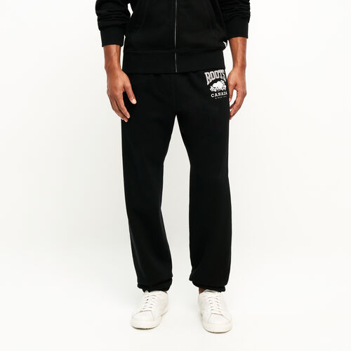 Roots-Men Original Sweatpants-Classic Relaxed Sweatpant-Black-A