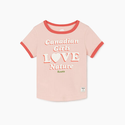 Roots-Kids New Arrivals-Toddler Girls Love Nature T-shirt-Silver Pink-A