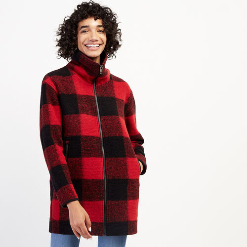 Roots-Women Outerwear-Seymour Jacket-Cabin Red-A