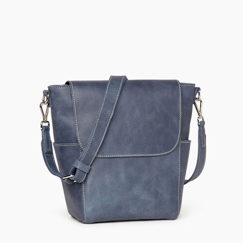 Roots-Leather  Handcrafted By Us Our Favourite New Arrivals-Small Journey Bag-Navy-A