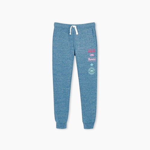 Roots-Kids Girls-Girls Stacked Slim Cuff Sweatpant-Moroccan Blue Pepper-A