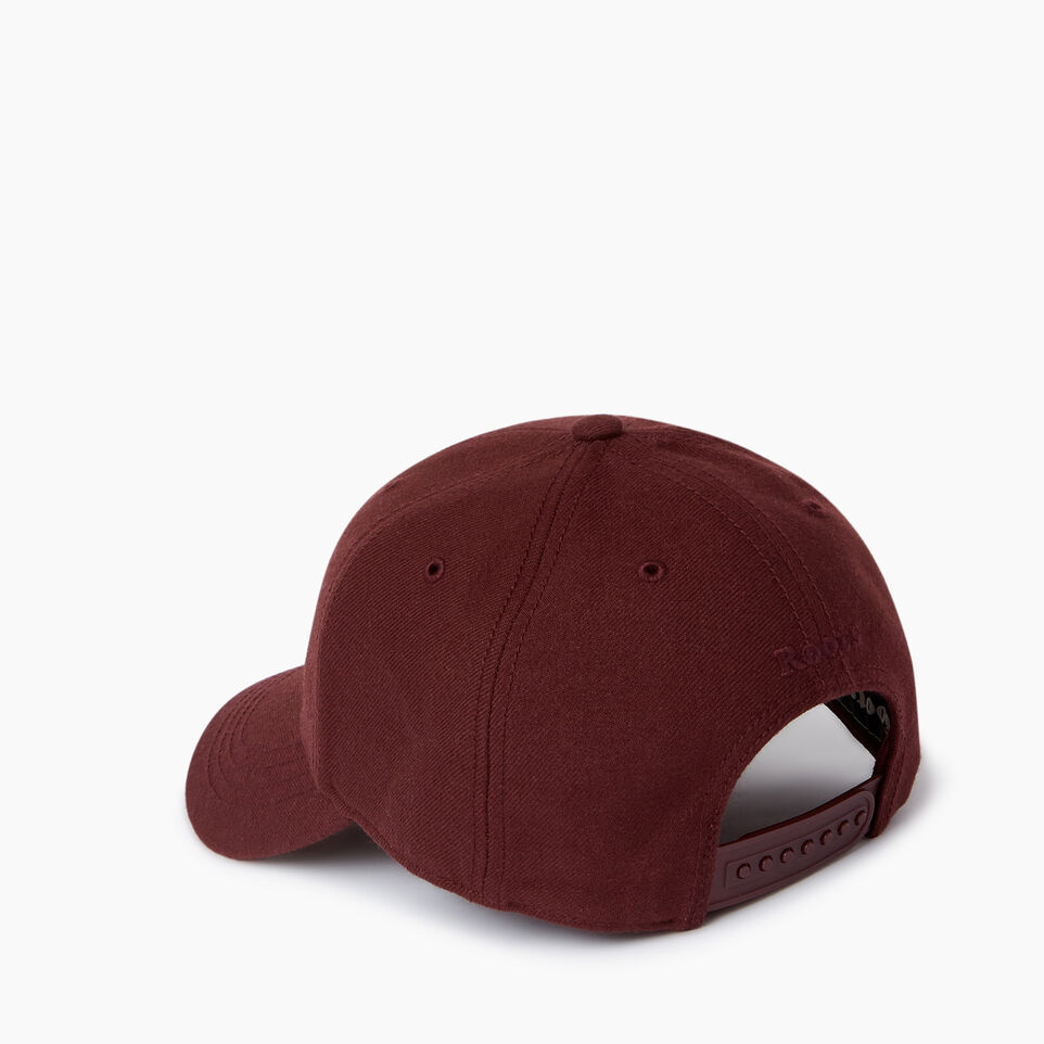 Roots-Men Our Favourite New Arrivals-Modern Leaf Baseball Cap-Crimson-C