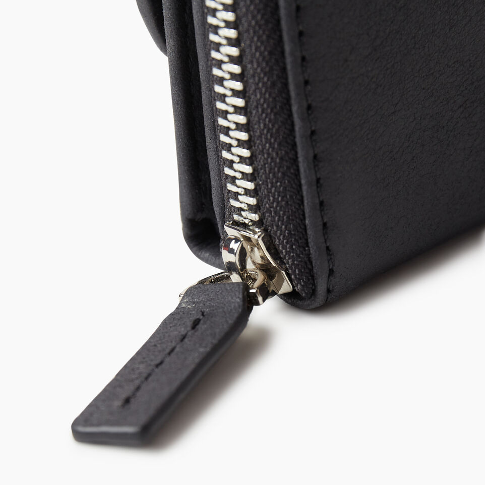 Roots-Leather Categories-Small Canmore Wallet Tribe-Jet Black-E