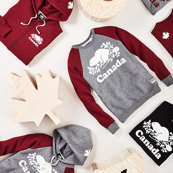 aca809d0fd9a Show your Canadian pride and celebrate Canada s 150th Anniversary with our  Canada Collection by Roots™.