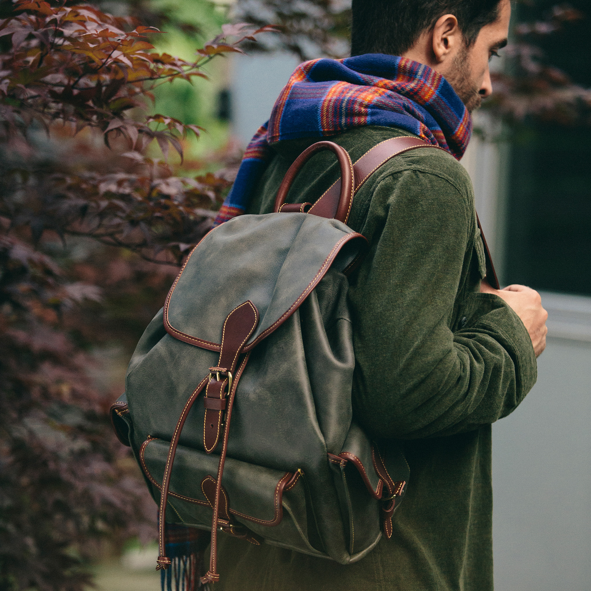 Roots-Leather  Handcrafted By Us Backpacks-Shop The Look: Cabin Comfort, City Style-K